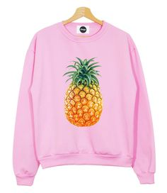 PINEAPPLE SWEATER PINK black white top sweatshirt fruit fresh food fitness mean girls t shirt fashion brand style swag tumblr hipster womens on Etsy, $36.66 CAD