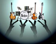 The Beatles, Abbey Road: Shadows by Lena Day Abbey Road, Beatles Love, Beatles Art, Beatles Poster, Beatles Funny, Beatles Lyrics, Ringo Starr, Canvas Art, Canvas Prints