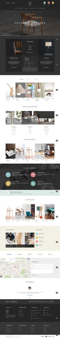 Idea de gráfica abogados. HTML5 THEME. Web Design / furniture, minimal, minimalist, clean, website, dark more on http://html5themes.org