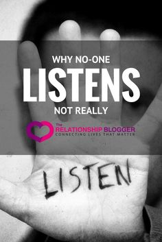 why no-one listens. Not really
