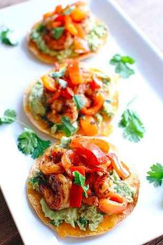 Easy Shrimp & Guacamole Tostadas. 24 Of The Most Delicious Things You Can Do To Shrimp