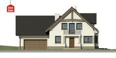 Dom przy Przyjaznej 8 - elewacja frontowa Home Fashion, Shed, Outdoor Structures, Cabin, Mansions, House Styles, Home Decor, Dots, Decoration Home
