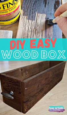 Make an easy DIY wood box out of old fence wood! Super cheap and easy rustic decor that can be used for so many things!