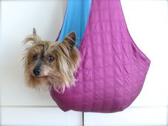 Crochet Sling Bags Pet Sling Dog Carrier for an elderly dog! Pet Sling, Sling Bags, Dog Car Accessories, Puppy Carrier, Dog Expressions, Gifts For Dog Owners, Pet Gifts, Pet Carriers, Fashion Moda