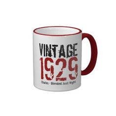 85th Birthday Vintage 1929 or Any Year V01D Mug