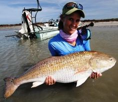 Candace Kern Red Drum 1On September 17th, angler Candace Kern caught and released a beautiful 17.69 kg (39 lb) red drum (Sciaenops ocellatus) that could potentially earn her the new women's 8 kg (16 lb) tippet class record. Kern needed only 15 minutes to land the trophy redfish after it ate the black/purple fly she presented to the fish in the .... http://www.odumagazine.com/this-is-one-big-red-drum/