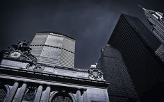 MetLife, Chrysler Building, Grand Central Terminal, NYC Chrysler Building, Shades Of Grey, New York City, Nyc, Explore, Black And White, Travel, Viajes, New York
