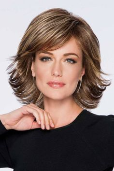 Shop beautiful wigs for women in the latest hairstyles; Browse synthetic & human hair, for white or black women in every length and color! Discover our stylish women's wigs for sale today! Medium Hair Cuts, Short Hair Cuts, Medium Hair Styles, Short Hair Styles, Pixie Cuts, Medium Bob Hairstyles, Cool Hairstyles, Layered Hairstyles, Shaggy Bob Haircut