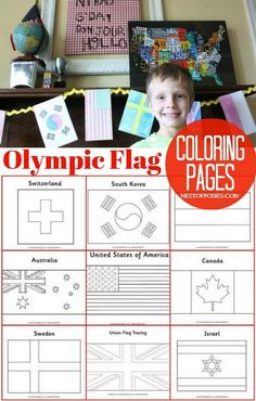 Olympic Flag Coloring Pages #kidscraft