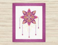 Mandala dreamcatcher Cross Stitch Pattern PDF by TimeForStitch