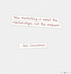 New Marketing is All About Relationships