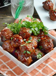 These Slow Cooker Honey Chipotle BBQ Meatballs are sweet, spicy, slightly smoky and the perfect appetizer for parties and football games.