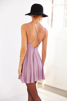 Sparkle & Fade Strappy Chiffon Skater Dress