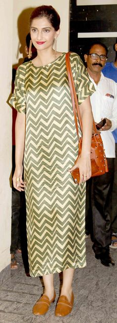 Sonam Kapoor at 'Dil Dhadakne Do' screening. #Bollywood #Fashion #Style…