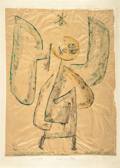 """Paul Klees Engel haben oft allzu menschliche Schwächen: """"Engel vom Stern"""", 1939, Kleisterfarbe und Bleistift auf Papier auf Karton, 61,8 x 46,2 cm (Courtesy Zentrum Paul Klee, Bern)"""