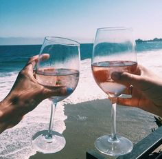 cheers to the beach. Summer is better with Rosé wine. Wine Time, Summer Of Love, Summer Fun, Summer Travel, Beach Bum, Summer Vibes, Summer Feeling, Life Is Good, Alcoholic Drinks