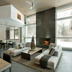 Capitol Creek - modern - living room - other metro - Kaegebein Fine Homebuilding