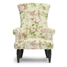 Baxton Studio Kimmett Beige/ Pink Linen Floral Accent Chair ($321) ❤ liked on Polyvore featuring home, furniture, chairs, accent chairs, linen chair, pink armchair, beige armchair, padded chairs and floral armchair