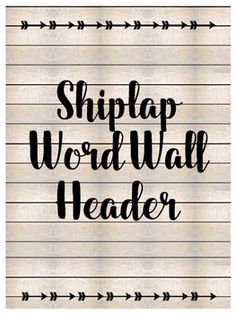 This shiplap word wall header and editable word cards are the perfect addition to your farmhouse classroom. It has a simple and sophisticated charm that will work in any grade level.Stef and Colleen. 4th Grade Classroom, Classroom Design, Kindergarten Classroom, School Classroom, Classroom Themes, Classroom Organization, Future Classroom, Classroom Posters, Word Wall Headers