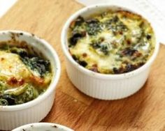 Œufs cocottes mozzarella et épinards : http://www.fourchette-et-bikini.fr/recettes/recettes-minceur/oeufs-cocottes-mozzarella-et-epinards.html