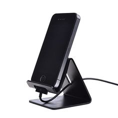 Esonstyle Desktop Cell Phone Stand: Portable Aluminum Smartphone Holder Cellphone Cradle Universal Holder Stand Mobile Smart Dock Mount for Smartphones and Tablets Esonstyle