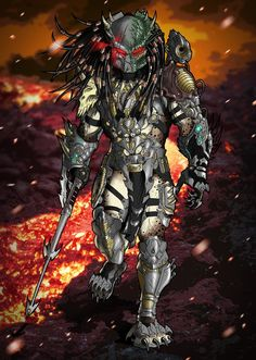 My OC Predator Hate drawn by his talent and skills. I cant lie- I fricking love how this . Hate Predator By By Alien Vs Predator, Predator Comics, Wolf Predator, Predator Games, Predator Costume, Predator Hunting, Predator Movie, Predator Alien, Predator Tattoo