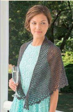 Downton Abbey Dowager Shawl | AllFreeCrochet.com