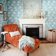 ohhhh super yummy color combos. I especially like how the natural rug and basket tie it all together.