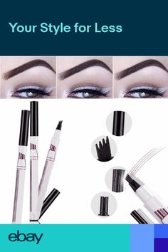 Eyebrow Enhancers Hot Sale Microblading Eyebrow Tattoo Pen Waterproof Eye Makeup 3 Colors Easy Use Eyebrow Pen Deep Color Pencil Eyebrow Cool In Summer And Warm In Winter