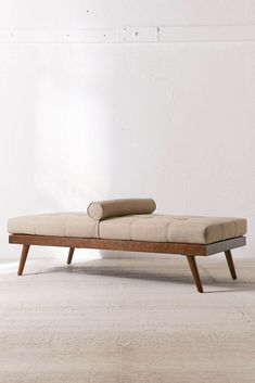 Daybed Design, Sofa Design, Bench Furniture, Furniture Design, Pillow Set, Cushion Pillow, Mid Century Modern Daybed, Moe's Home Collection, Under Bed
