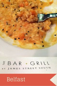 Dinner at the James Street South Bar + Grill in Belfast, Northern Ireland