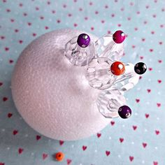 easy ornament with very small foam balls.
