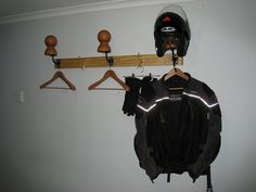 DIY Garage Gear And Helmet Rack   ADVrider