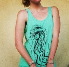 My favorite animal on my favorite shirt. #jellyfish #favoriteanimalinshirtform #love
