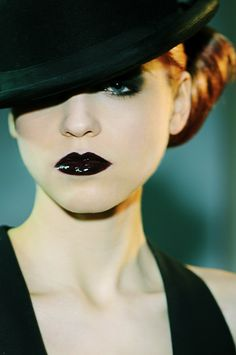 Who knew black lipstick could look this good?!
