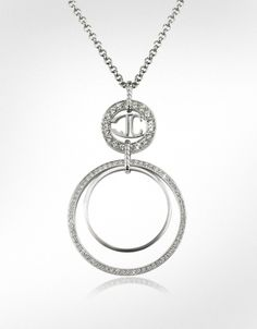 Just Cavalli Rolly - Crystal Logo Pendant Necklace