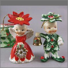 Napco Merry Christmas Sweethearts Ornament With Original Box~~1956
