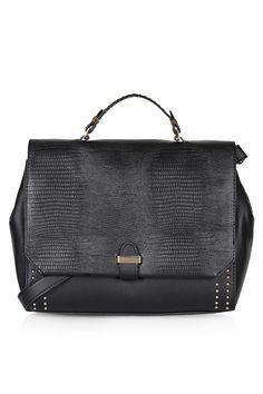 Studded Top Handle Bag