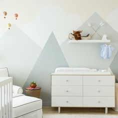 Dreamy nursery on @homepolish with our Merlin 6 Drawer dresser. ☁️