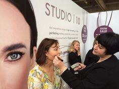With Kathy Wrennall on the Studio 10 stand at the Anti-Ageing Health and Beauty Show