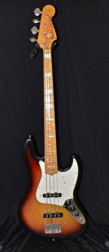 1975 Fender® Jazz Bass® Sunburst, Very Good, $1,999.99 (via Gbase.com)