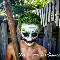 Joker face painting fait par les croquis de Channie
