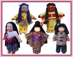 Culturally sensitive dolls that can be added to a dramatic center or at home for children's play.