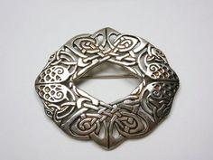 VALENTINE'S DAY SALE  Eternal Love Knot, Heavy Sterling Silver Celtic Eternity Knot Brooch Irish  Handmade Vintage Silver Brooch 225.00