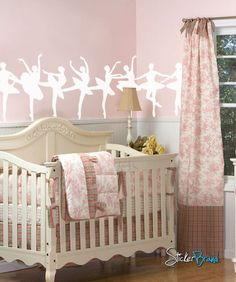 Decal sizes are available.Some wall decals may come in multiple pieces due to the size of the design.Vinyl wall decals are removable but not re-positionable. Ballet Room, Ballerina Room, Ballerina Nursery, Baby Nursery Decor, Nursery Themes, Nursery Ideas, Girl Nursery, Room Ideas, Wall Decal Sticker