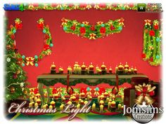 The Sims Resource: Christmas light set by jomsims • Sims 4 Downloads