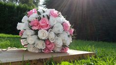 Bride Bouquet Wedding Paper Flowers Paper Roses by moniaflowers