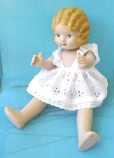 Vintage Doll Toy Daisy Kingdom Pansy Pattern Doll