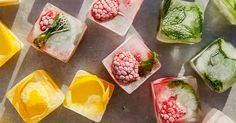 Make your drinks even more flavorful with easy infused ice cubes.