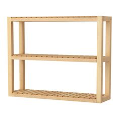 MOLGER Wall shelf IKEA--throw some casters on this and slide it between the washer/dryer